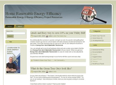 Home Renewable Energy Efficiency Website