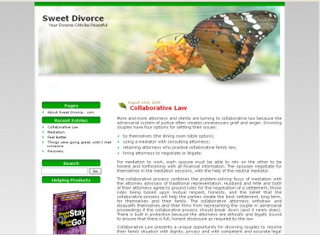 Sweet Divorce Website