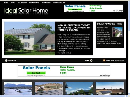 For Your Ideal Solar Powered Home