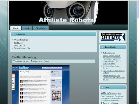 Making Money From Twitter - Affiliate Robots