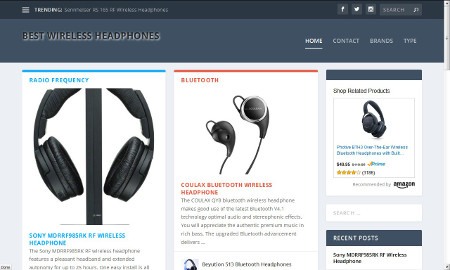 Best Wireless Headphones Website Screenshot
